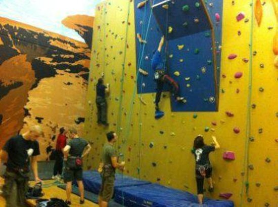 Nevsail Watersports : Our Indoor rock climbing wall in Limerick city