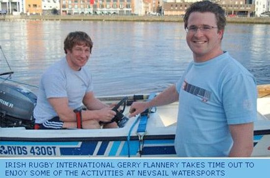 Nevsail Watersports : Jerry Flannery doing a powerboat course