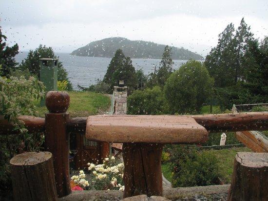 Cabanas La Deseada: Vista desde el living comedor