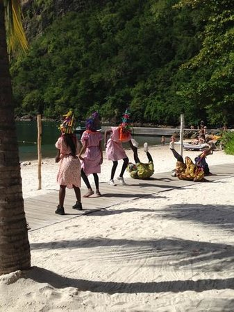 Sugar Beach, A Viceroy Resort: A local dance troupe brought in to perform for guests