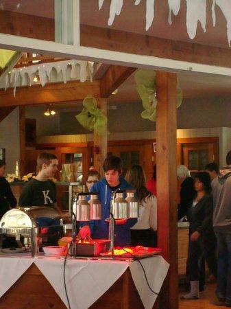 Jouvence, Centre de Villegiature: buffet