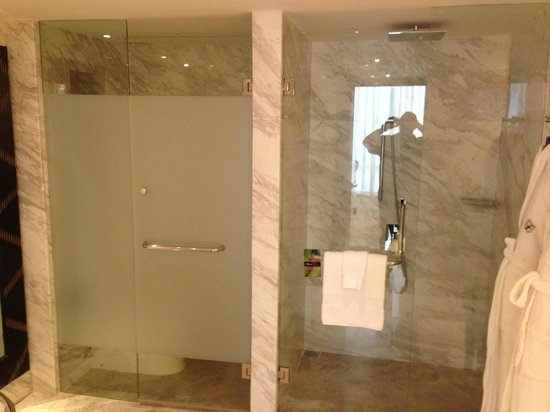 Fairmont Makati: Separate shower and WC