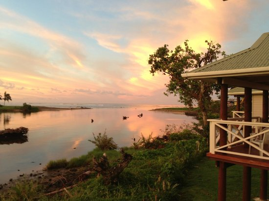 Salani Surf Resort : View from the fale Lanai