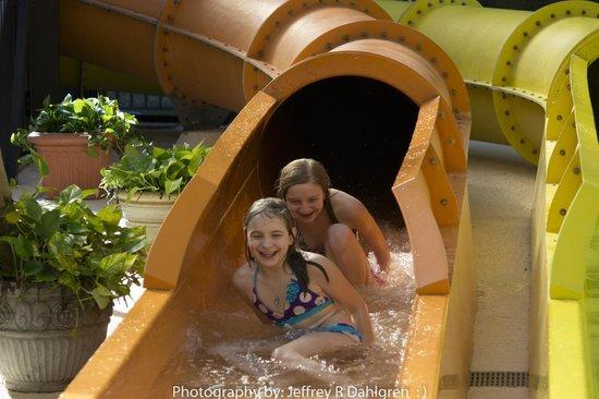 Compass Cove Oceanfront Resort:                   Water slide