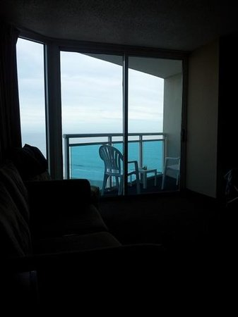 Captains Quarters Resort: view from lying on the king bed,angle ocean front