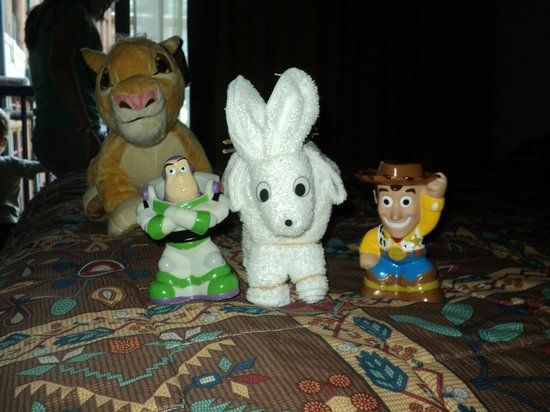 Disney's Wilderness Lodge: 1 of the many surprises our maid left us each day!