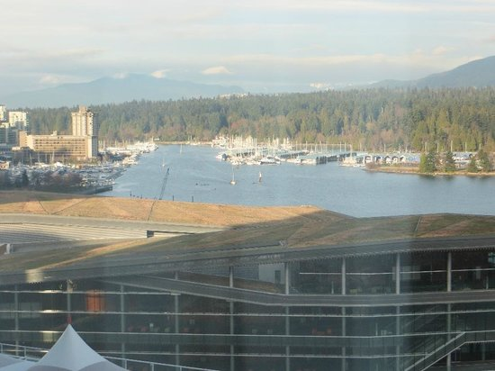 Pan Pacific Vancouver: Coal Harbour to the west.