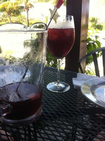 Padrino's Pizza Express: nearing the bottom of a pitcher of Sangria