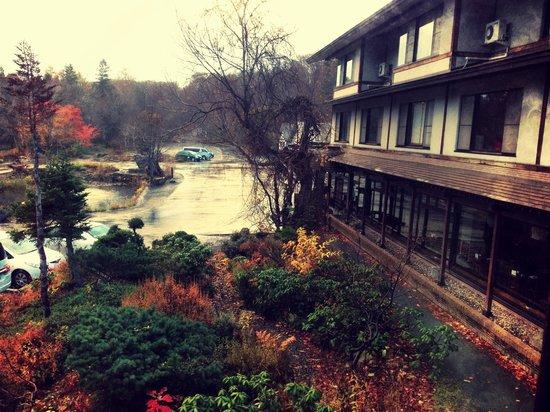 Tsuta Onsen Ryokan: View from my room