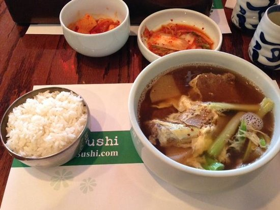 Lee's Sushi: Kal Bi Tang soup... Great simple meal for lunch.