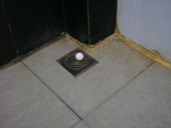 The Aroma's of Bali Hotel & Residence: mothball over shower drain