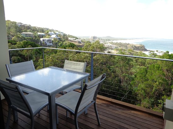 The Point Coolum Beach: View with balcony and table