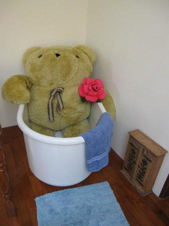 At-Home B&B: Bear in the bathtub