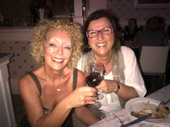 Scuola Vecchia Pizza E Vino: Owner Sharon with my friend Dale