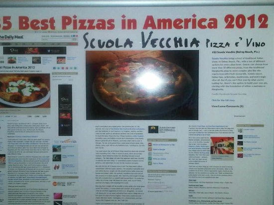 Scuola Vecchia Pizza E Vino: One of the best pizzas in America!