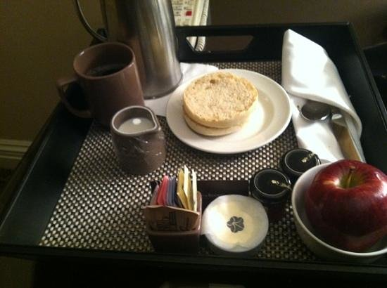 Omni William Penn Hotel:                   breakfast at my door
