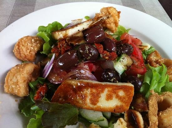Mojo's Bar & Grill:                   the Haloumi was an unexpected tasty addition