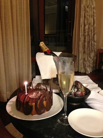 Shangri-La's Boracay Resort & Spa: Complementary birthday cake - thank you Shangri-la Boracay!!