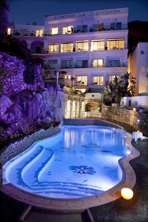 Hotel La Floridiana: visione dalle camera in notturna