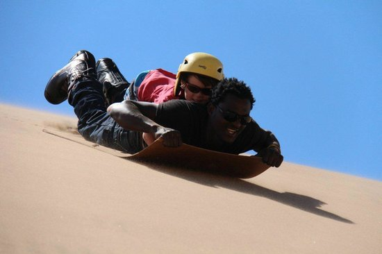 Alter Action Sandboarding: Piggy back boarding for the young one