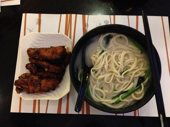 Noodle & Congee Corner: pork ribs with single strand noodles