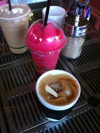 Yahava KoffeeWorks: served on an old coffee machine!
