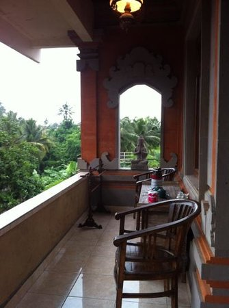 Teba House Ubud Guest House: deluxe room privacy balcony