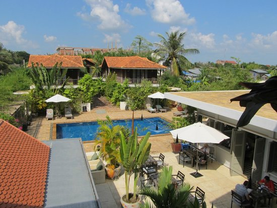 Bambu Battambang Hotel: View from Suite Balcony