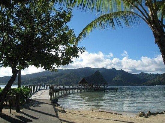 Le Taha'a Island Resort & Spa: la spiaggia