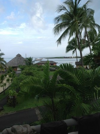 InterContinental Tahiti Resort & Spa: View from room. The end of the runway is in the distance