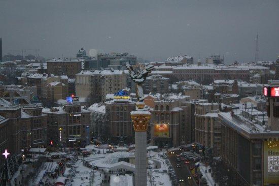 Hotel Ukraine: Aussicht 13. Etage
