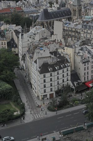 Hotel Esmeralda: the hotel from the Notre Damme South Tower
