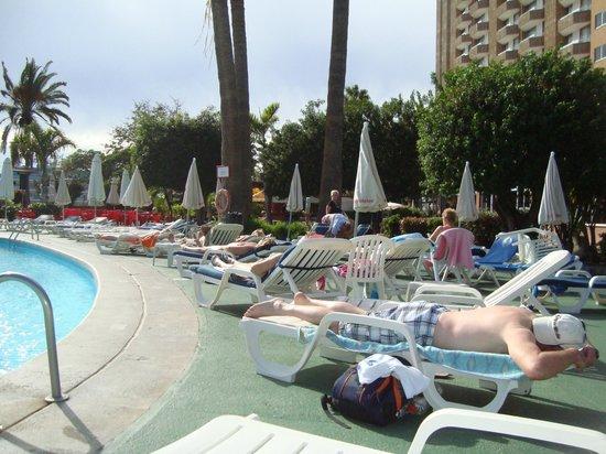 """TRYP Tenerife: """" paxningstid """" av solstolar kl 07 på morgonen"""