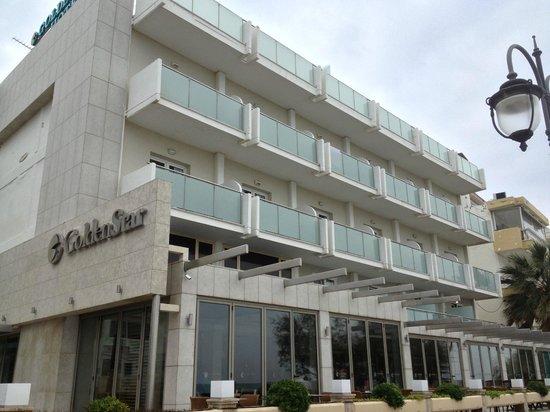 Golden Star City Resort: The redecorated facade of Golden star Thessaloniki in Nov 2012