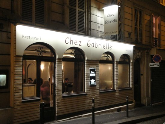 front of restaurant picture of chez gabrielle paris tripadvisor. Black Bedroom Furniture Sets. Home Design Ideas