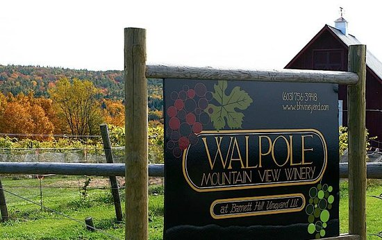 Walpole, NH: Winery Sign when you first pull in