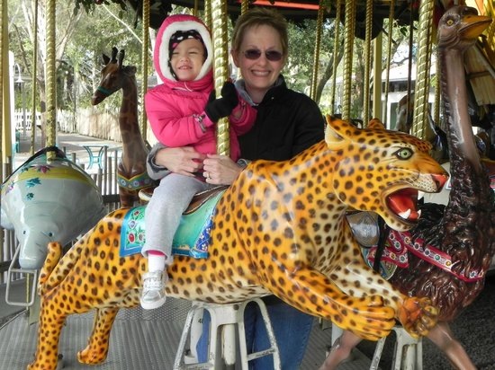 Tampa's Lowry Park Zoo: Riding the carousel