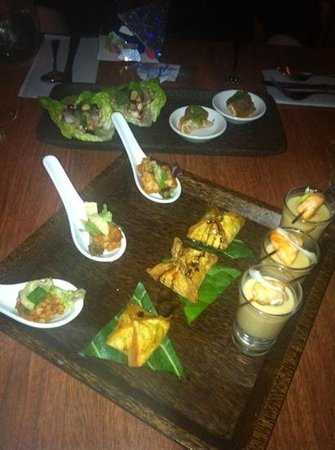 The Coconut Kitchen: selection of canapés from New Years Eve