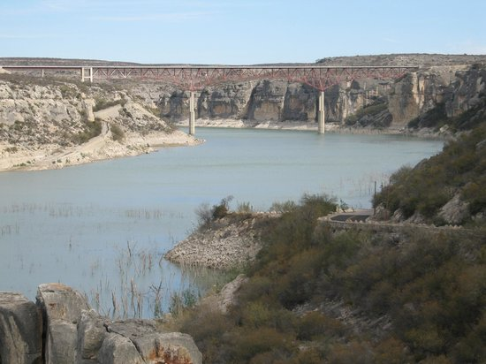 Amistad National Recreation Area: Pecos River bridge from the 'old' highway.