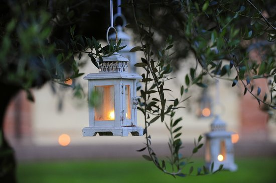 Musella Winery & Country Relais: A lantern hanging from a tree in the courtyard