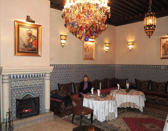 Riad Kniza: The restaurant.