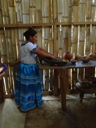 Maya Center Mayan Museum : Coffee Grinding Demonstration
