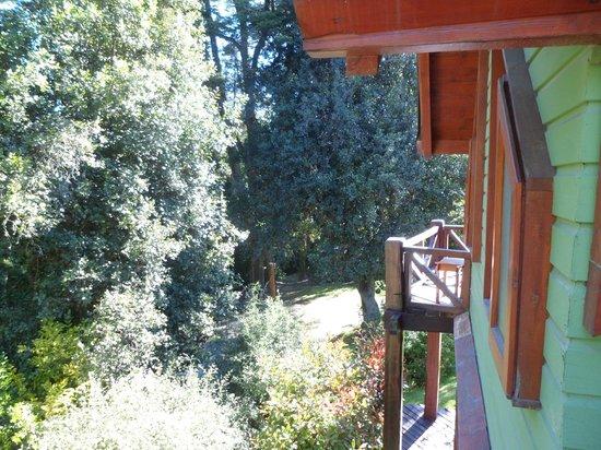 Hosteria Cohuel: Vista desde la habitación hacia el parque