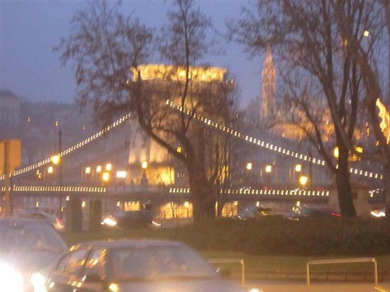 Sofitel Budapest Chain Bridge: a view from the hotel entrance