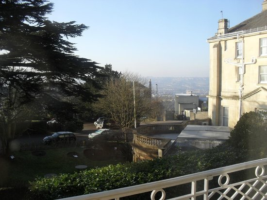 The Lansdown Grove Hotel: This is on the balcony from our lovely room, what a view.