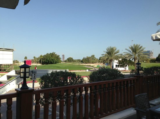 Doha Golf Club: View from the outdoor restaurant