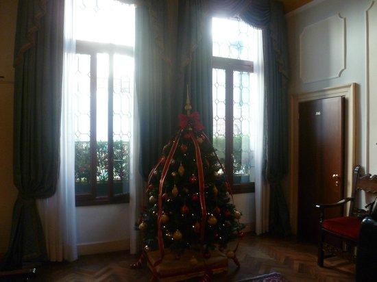 Locanda Sant'Agostin: le hall décoré pour Noël