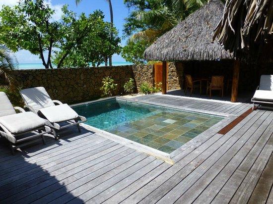 Le Taha'a Island Resort & Spa: Privater Pool