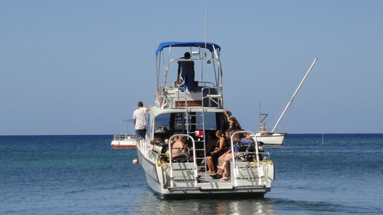 Native Sons Dive Shop : Native Sons dive boat - the best in West End