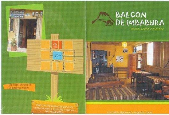 Balcon de Imbabura: Brochure Page 1